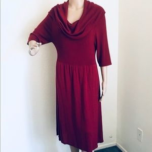 Cranberry sweater dress large Max Edition